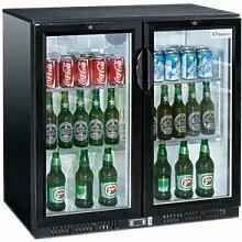 Flaschenkühler, 208 Liter, 900 x 520 x 900 mm, 2 Glastüren,
