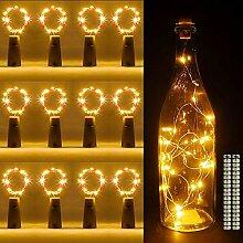 Flaschenlicht 12 Stück 20 LEDs 2M Lichterkette