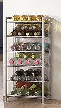Flaschenständer in alu für 28 Flaschen; Maße: