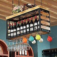 Flaschenweinregal, Deckenmontage Hängende