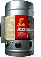 Flash Anzündkamin XL Kohlestarter Grillanzünder