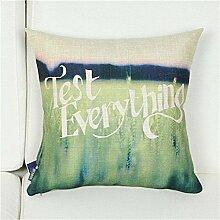 Flash Baumwolle und Kissenkissenkissenkissenbezug Leinen Sofa