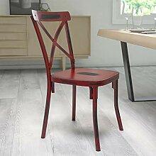 Flash Furniture Rustikaler Antik-Metall-Stuhl mit