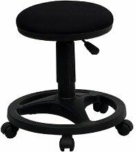 Flash Furniture WL-905DG-GG schwarzer ergonomischer Hocker mit Fuß