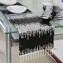 Flash Glitzer Tischläufer/hängenden Perle Tischläufer/Flaggen der Europäischen Stil Couchtisch/Abdeckung Tuch/Tischläufer/Bett Renner