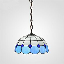 Flash-Mittelmeer Single Head Kronleuchter Tiffany-Lampen Schlafzimmer Modernes unbedeutendes