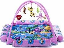 Flash- Neugeborenes Baby 0-1 Jahre alt Aktivität Fitness Rack Spielmatte Aktivität Gym, 3-18 Monate Kleinkinder Puzzle Discovery Musik Spielzeug Gamepad (Farbe : Pink, größe : 130*130*60cm)