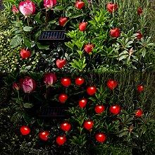 Flash SALE–Zwei Sets von Outdoor Garten Solar 16Rot Herz Lichterkette–Das ist 32Herz Lichter