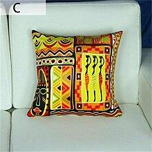 Flash Wildleder-Sofa bunt abstraktes Muster Kissen