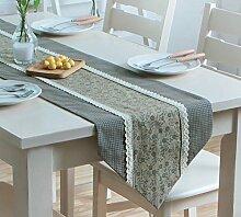 Flashing- American Pastoral Style Baumwolle und Polyester Material Pflanze Blumen Muster Tisch Flagge, Couchtisch Esstisch TV Schrank Tischläufer ( Farbe : #1 , größe : 35*200cm )