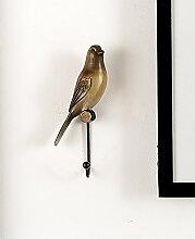 Flashing- Amerikanisches Land Wanddekoration Wandfarbe von Hand bemalt Harz Vogel Haken ( stil : A )
