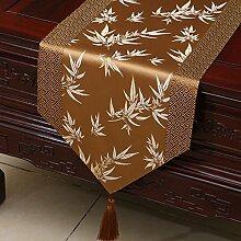 Flashing- Couchtisch Esstisch TV Schrank Tischläufer, Chinesisch Klassische Stil Seide Material Tisch Flagge ( größe : 33*150cm )
