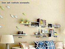 Flashing- Creative Wooden Wall Shelf / Bücherregal / Floating Regal / Pflanze Stand / Flower Racks, TV Backdrop Frame Wohnzimmer Wand hängen ( Farbe : #1 )