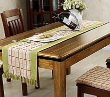 Flashing- Einfache moderne Art Polyester Material Tischfahne, Europäische Art Couchtisch Esstisch TV-Schrank Tischläufer ( Farbe : #2 , größe : 38*220cm )