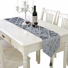 Flashing- Einfaches modernes Tuch Material Tischfahne, Couchtisch Esstisch TV-Schrank Tischläufer ( Farbe : #2 , größe : 28*180cm )