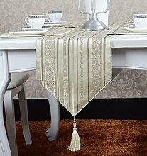 Flashing- Europäischen Stil Blended Material Streifen Muster Tischfahne, Couchtisch Esstisch TV Schrank Tischläufer ( größe : 30*200cm )