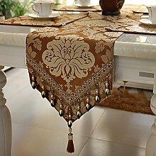 Flashing- Europäisches Tuch Material Pflanze Blumen Muster Tisch Flagge, Couchtisch Esstisch TV-Schrank Tischläufer ( größe : 30*240cm )