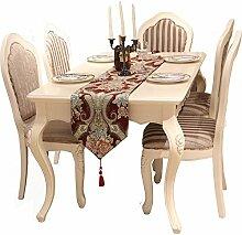 Flashing- European Style High-Tech Jacquard Craft Chenille Material Tischläufer, Couchtisch Esstisch TV Schrank Tischfahne ( größe : 32*250cm )