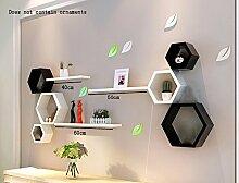 Flashing- High Density Board Wandregal / Flower Racks / Bücherregal / Regal, TV Hintergrund Wand Frame Wohnzimmer Wand hängende Dekoration ( Farbe : #3 )