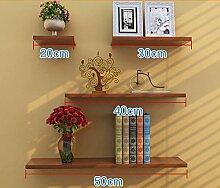 Flashing- Holzböden Wandregal / Bücherregal / Blumenregale / Regal, Stanzinstallation Wohnzimmer Korridor Schlafzimmer Shop Wandbehang (Ein Satz von 4) ( Farbe : #6 )