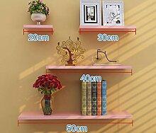 Flashing- Holzböden Wandregal / Bücherregal / Blumenregale / Regal, Stanzinstallation Wohnzimmer Korridor Schlafzimmer Shop Wandbehang (Ein Satz von 4) ( Farbe : #5 )