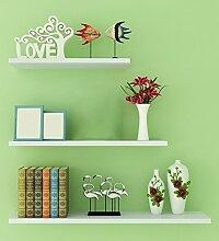 Flashing- Kreativ Holz-Paneele Wandregal / Bücherregal / Blumenregale / Regal, Free Stanzen Wohnzimmer Korridor Schlafzimmer Shop Wand hängende (Ein Satz von drei) ( Farbe : Weiß )