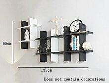 Flashing- Kreative Holzböden Schwimmen Regal / Bücherregal / Wand Regale / Pflanze Stand, Wand hängende Dekoration Rack Wall Frame ( Farbe : #4 )