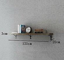 Flashing- Kreative Retro Holzböden Wandregal / Bücherregal / Blumenregale / Regal, Wohnzimmer Korridor Schlafzimmer Shop Wand hängende Dekoration ( größe : Length 120cm )