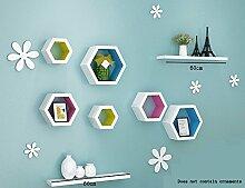Flashing- Kreatives Density Board Wall Shelf / Flower Racks / Bücherregal / Regal, TV Hintergrund Wand Frame Wohnzimmer Wand hängende Dekoration ( Farbe : #2 )