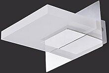 Flashing- Led Spiegel Frontlampen moderne minimalistische Hotel Bad Toilette Wandleuchte Edelstahl-Leuchte Beleuchtung Make-up ( Farbe : Weiß )