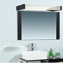 flashing lights- Moderne Minimalist Led Anti-fog wasserdichte Kristallspiegel Scheinwerfer Badezimmer-Spiegel-Kabinett-Licht-Spiegel-Licht Warm ( farbe : Schwarz , größe : 45 cm )