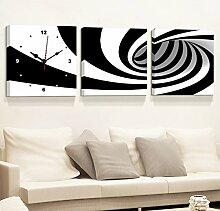 Flashing- Meter Box Verteilung Box Block Mural, MDF Material Haut Membran Schlafzimmer Wohnzimmer Frameless Bild Wanduhr, Fashion Creative Murals ( größe : 30*30cm )