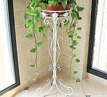 Flashing- Mode Pastoral Stil Eisen Material einzigen Schicht Standart Art Blumentopf Regal, Garten Schlafzimmer Balkon Wohnzimmer Korridor Blume Racks ( Farbe : Weiß , größe : L )