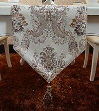 Flashing- Moderne Einfachheit Stil Chemische Faser Material Pflanze Blumen Muster Tischfahne, Couchtisch Esstisch TV-Schrank Tischläufer ( größe : 30*180cm )