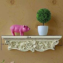 Flashing- Nordic Kreatives Harz und Polymer Material Regal Wand hängend, Wohnzimmer Schlafzimmer Blumenregale TV Kulissen Regal ( größe : 54*15.5*11cm )