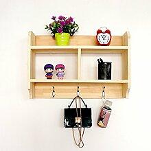 Flashing- Nordic Modern Kiefer Material Wandregal / Bücherregal / Blumenregale / Regal, Wohnzimmer Korridor Schlafzimmer Shop Wand hängende Dekoration ( Farbe : #2 )