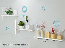 Flashing- PU-Beschichtung Holz schwimmend Regal / Wand Regale / Pflanze Stand / Bücherregal, Wohnzimmer Wand hängen Kulisse Dekoration Rack Wandrahmen ( Farbe : #2 )