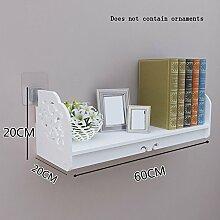 Flashing- PVC Floating Rack / Wand Regale / Pflanze Stand / Bücherregal, Wohnzimmer Wand Hanging Backdrop Dekoration Wand Rahmen ( Farbe : 60*20*20cm )