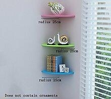 Flashing- Sektor PVC Pflanze Stand / Floating Rack / Wand Regale / Bücherregal, Schlafzimmer Korridor Wand Hängende Kulisse Dekoration Wand Rahmen ( Farbe : #1 , größe : Radius 25cm )