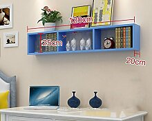 Flashing- Umfassende Massivholzfaserplatte Wandregal / Bücherregal / Blumenregal / Regal, Wohnzimmer Korridor Schlafzimmer Shop Wandbehang Dekoration ( Farbe : #4 )