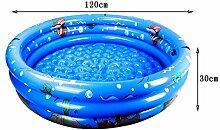 Flashing- Umweltschutz PVC-Material Baby Aufblasbare Schwimmbecken, Familienspiel-Pool, Kinder Spiel-Pool Schwimmen Eimer Neugeborene Wanne (120*30cm) ( Farbe : Blau , größe : 120*30cm )