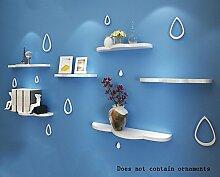 Flashing- Wolke Typ Holz schwimmend Regal / Pflanze Stand / Wand Regale / Bücherregal, Wohnzimmer Wand Hängende TV Kulisse Dekoration Rack Wall Shelf ( Farbe : #2 )