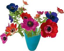 Flat Flowers Fensteraufkleber Anemone Blau