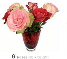 Flat Flowers Fensteraufkleber Rosen
