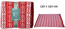 Flauschige Häkeldecke - Decke Wolldecke Kuscheldecke Wohndecke - 130 x 150 cm ROT - von matrasa