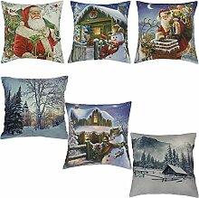 flauschige Weihnachten Kissenhülle Kissenbezug