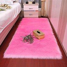 Flauschiger Teppich Kunstpelz Schaffell Teppich