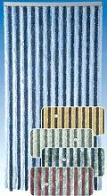 Flauschvorhang 56x200 Türvorhang Vorhang Insektenschutz Hitzeschutz beige braun