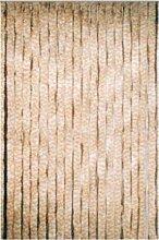 Flauschvorhang beige weiß Türvorhang als