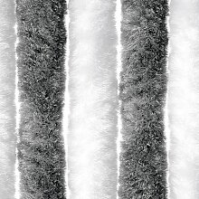 Flauschvorhang, Grau/weiß